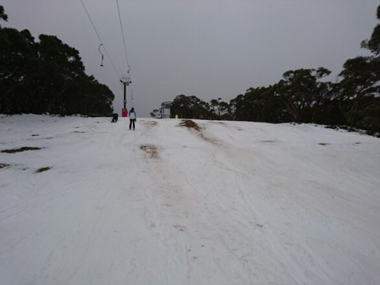 Mt. Baw Baw Alpine Resort - patchy snow through to the grass on the button lifts - ©Jimmy C 84