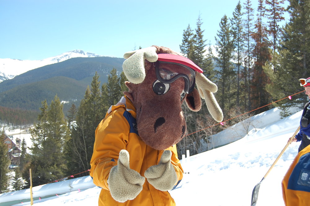 Willie the Moose, mascot of Winter Park, CO.