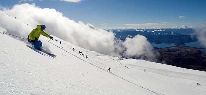 Ski d'été (Treble Cone en Nouvelle Zélande)