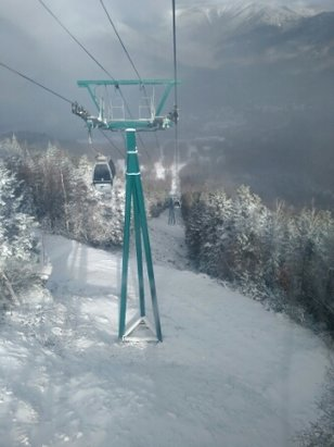 Loon Mountain - Very nice first day at Loon. As always Loon has the best snowmaking crew. 