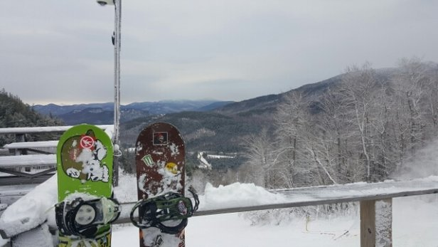 Whiteface Mountain Resort - great day of boarding and a great way to start off the day.  happy Thanksgiving  - © anonymous