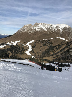 Obereggen - Pampeago - Predazzo - La neve tiene Sci scia molto bene  - © iPhone di Giuseppe