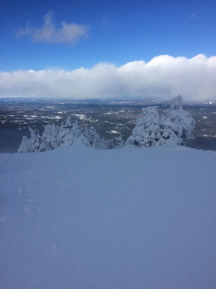 Cannon Mountain - Dec 15, about 5 inches of fresh.  Windy, but Great day when you could see.  - © wjstare's iPhone