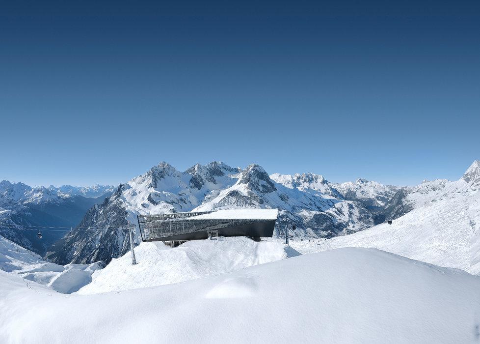 Die neue Bergstation der Flexenbahn - © Ski Arlberg