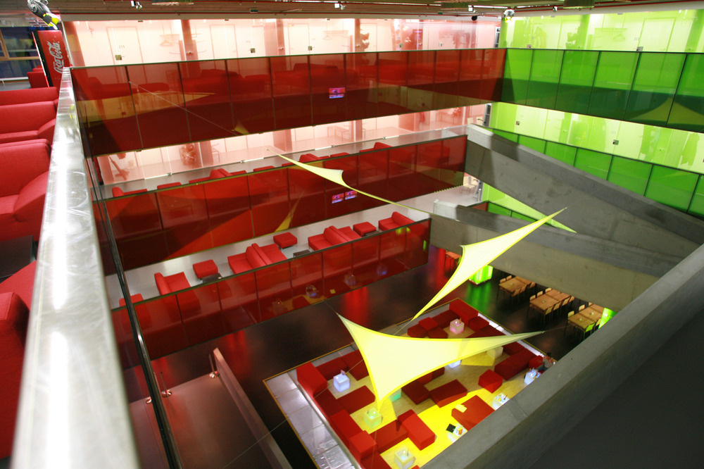Cube Hotel contemporary interior in Savognin