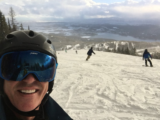Whitefish Mountain Resort - Super awesome day the Big! - © Steve Dooling's iPhone