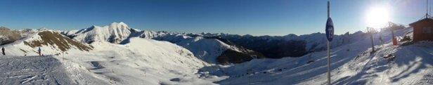 Val d'Allos - La Foux - peu de neige mais bien travaillé  - © Pitch