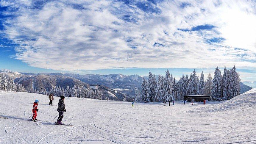 Die Pisten des Skigebiets Mariazeller Bürgeralpe - © Mariazeller Bürgeralpe