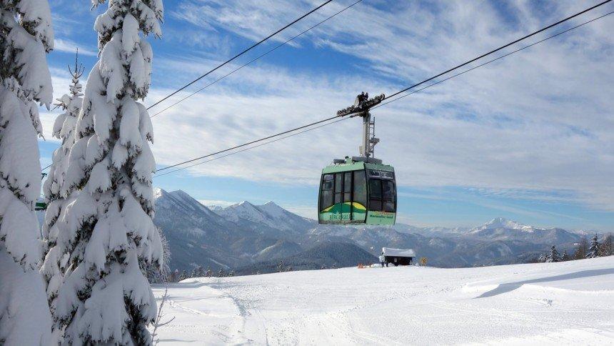 Die Winterlandschaft im Skigebiet Mariazeller Bürgeralpe - © Mariazeller Bürgeralpe
