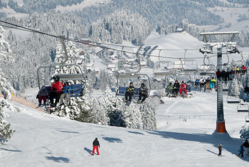 Der Lanklift im Skigebiet Schwarzenberg-Bödele - © Skigebiet Bödele