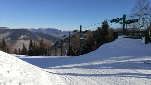 Loon Mountain - Bluebird day. Good in the morning, icy in the shade. Not crowded. - © Steve