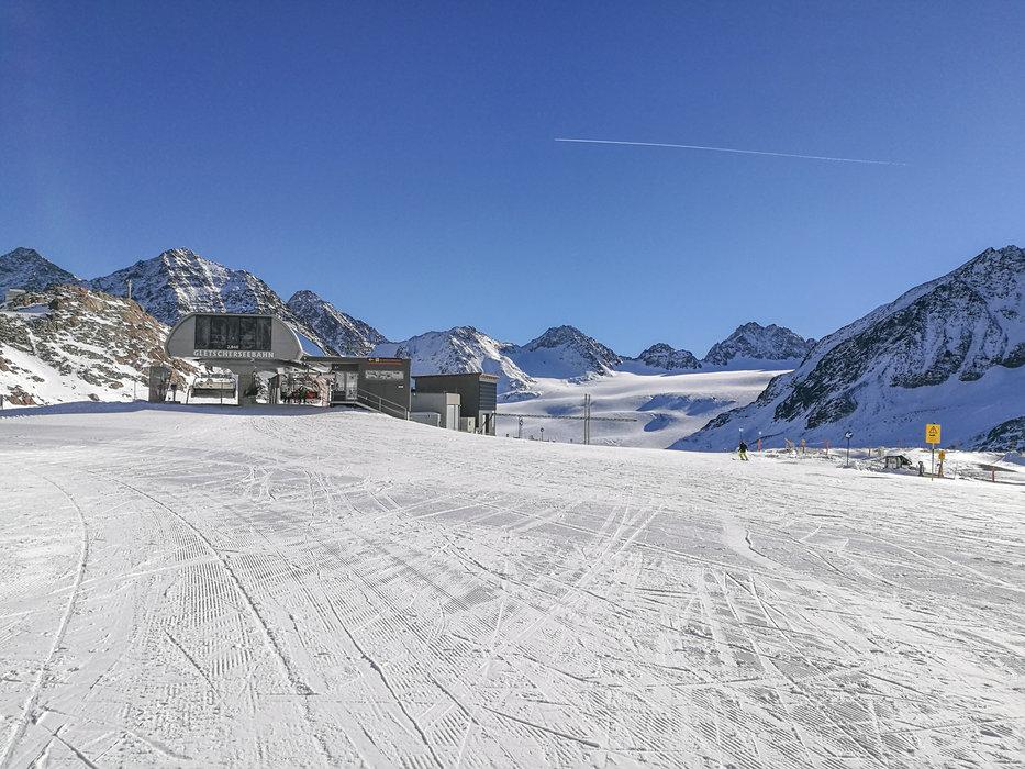 Blick über das Skigebiet Pitztaler Gletscher - © Pitztaler Gletscherbahn GmbH&CoKG