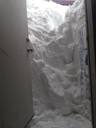 Crested Butte Mountain Resort - Shoveling out the back door in CB  - ©Matthew's iPad