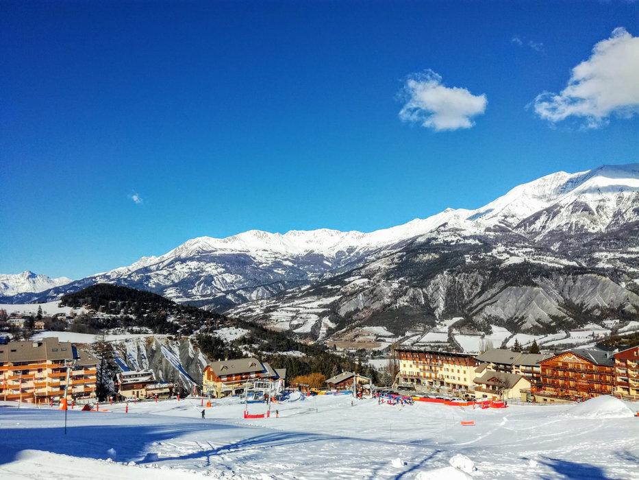 La station de ski du Sauze, dans la vallée de l'Ubaye - © OT du Sauze