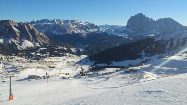 Val Gardena - Selva - Ortisei - Santa Cristina - Neve artificiale ma splendido come sempre - © Luca