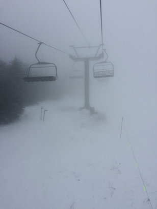 Cannon Mountain - Mashed potatoes at all altitudes, very foggy, but snow was very consistent especially for Cannon.   - © Rich's iPhone