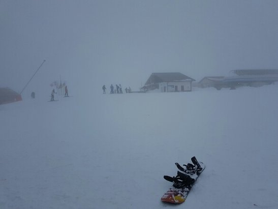 Campo Felice - Rocca di Cambio - neve fantastica ma.....giornata di m.... troppa nebbia - © flaviano civitavecchia