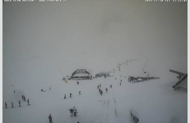 Cervinia 20.12.16 - © Cervinia webcam
