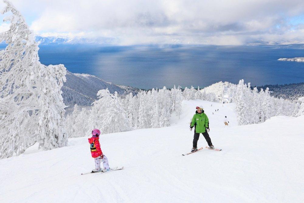 Must be tough to have to ski backwards at Diamond Peak. - © Diamond Peak