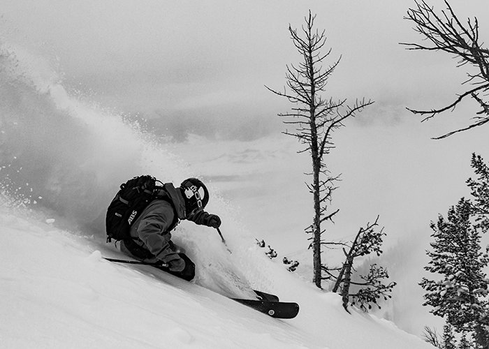 AJ Puccia finds the goods in the Cirque. - © Courtesy of Jackson Hole Mountain Resort