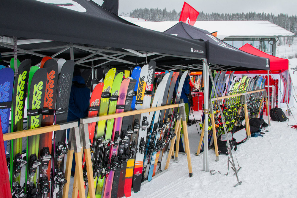K2 Ski beim All On Snow Skitest 2017 am Großen Arber - © Skiinfo