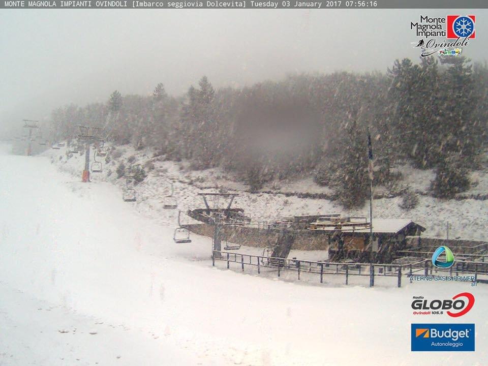 Ovindoli - Neve fresca del 03.01.17 - © Ovindoli Monte Magnola Webcam