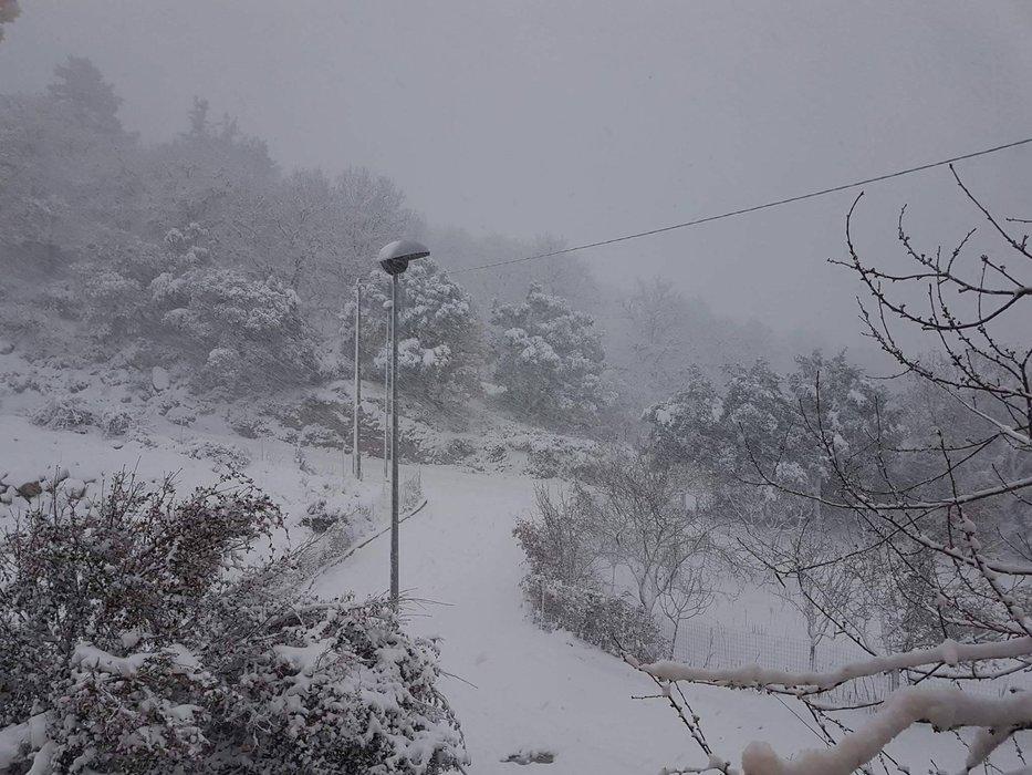 Neve fresca in Sardegna! Città: Gavoi - © Sardegna Live Facebook - Foto di  Luca Mulas