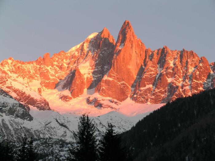 Die Gipfel rund um Chamonix, Frankreich.