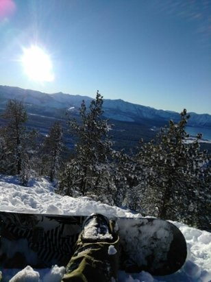 Heavenly Mountain Resort - so much snow in the mountains! Had a beautiful sunset cresting down the mountains then a beautiful late last run with an awesome snowboard instructor Jan 24th! - © anonymous