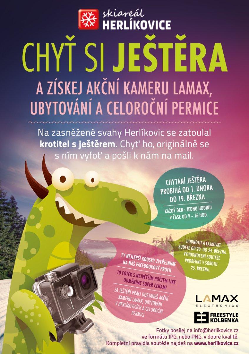 Chyť si ještěra - soutěž o hodnotné ceny na sjezdovkách v Herlíkovicích - © Snowhill, a.s.
