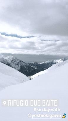 Lizzola - Neve fresca, ma poco battuta. Bellissima giornata  - © Chiara