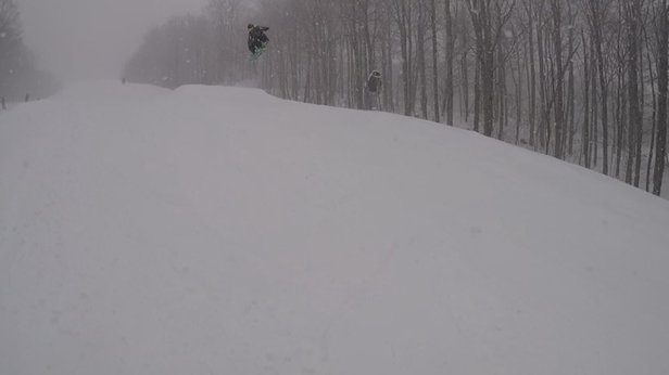Mount Snow - Epic conditions today. Powder everywhere.