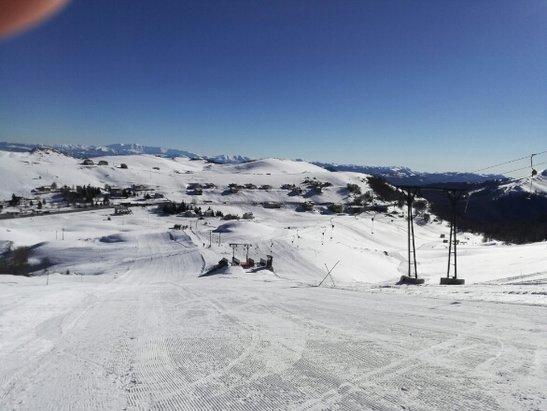 Campo Staffi - neve compatta al suolo. la tenuta è ottima anche dopo pranzo. Strade pulite. Seggiovia ceraso e anticotento aperte. Splendida giornata - © Pabot