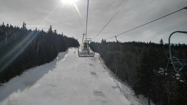 Mount Snow - It became fabulous when the snow softened. No lines @ Northface.  - © anonymous