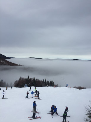 Tremblant - Skiing above the clouds on the spring conditions due to warm weather  - © Steve H