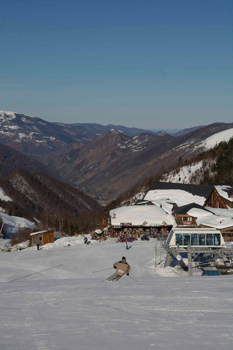 Sur le domaine skiable de Guzet - © Alex Gosteli