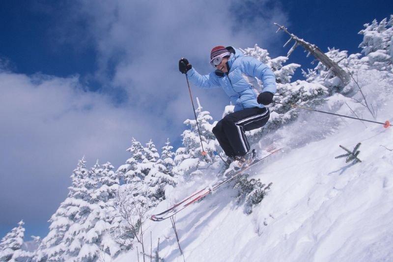 Powder skier at Pico-Killington VT.
