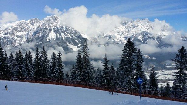 Ellmau - SkiWelt - Sonniger Tag und oben recht gute Verhältnisse! - © jonasrentzsch82