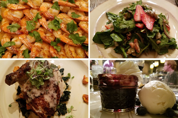 A delicious, four-course catered meal during our stay with Moving Mountains. - ©Heather B. Fried