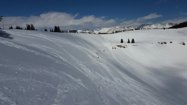Keystone - first time at Vail. windy but good snow can be found out of the wind.  back bowls and blue basin was great. 