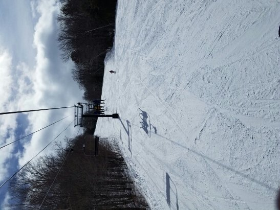 Mount Sunapee - Could not have asked for better conditions, the snow was sweet, great weather, and virtually nobody here which meant no lines. Killer day of skiing.  - © anonymous