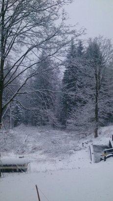 Zieleniec Ski Arena - Pada śnieg.  - © pl.reddys