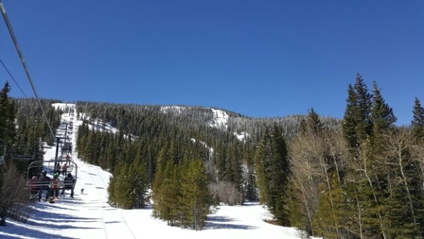 Eldora Mountain Resort - Warm, sunny, end of season day.  Some bare spots beginning to show in places especially on West Ridge. - ©anonymous