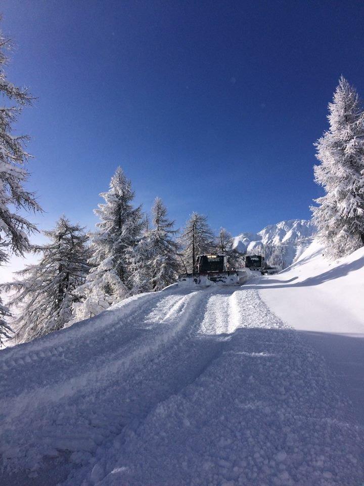 50 cm nysnø i Bardonecchia i Piemonte i Italia, 26. mars 2017 - © Bardonecchia Ski/Facebook