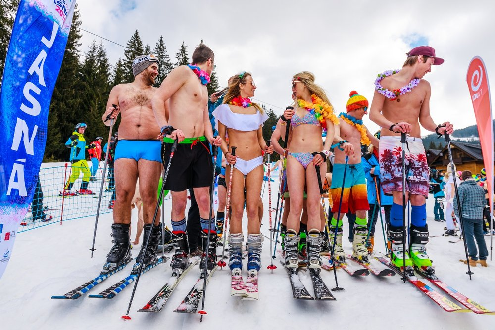 Bikini skiing pictures let's not