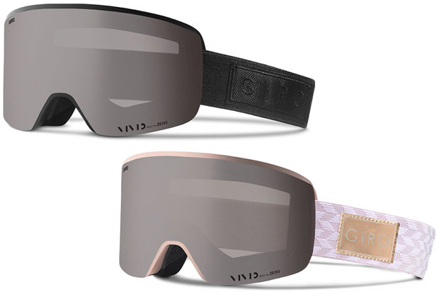 Giro Axis & Ella Goggles: $180 The latest from Giro for next (17/18) ski season, these men's and women's goggles take magnetic lens swaps one step further, locking them in place with snaps for that extra little bit of security. Axis and Ella come with a pair of VIVID lenses, one all-condition, one low-light, with technology designed to invite in contrast-enhancing blue light while blocking the harmful side of the spectrum. - © Giro