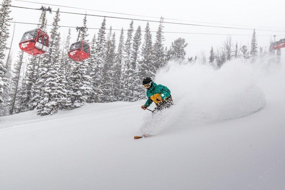 The top of the Bridger Gondola was some amazing skiing.  - © Jackson Hole Mountain Resort