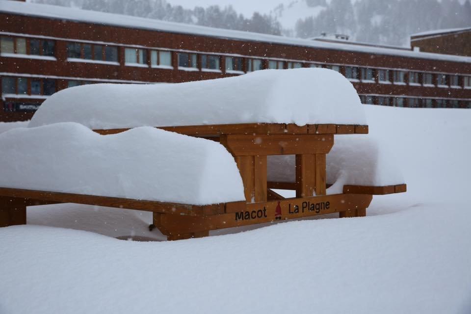 Belle chute de neige sur La Plagne (1 mars 2017) - © La Plagne