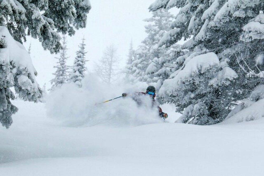 Hittin' a deep stash at Whitefish Mountain Resort. - © Whitefish Mountain Resort