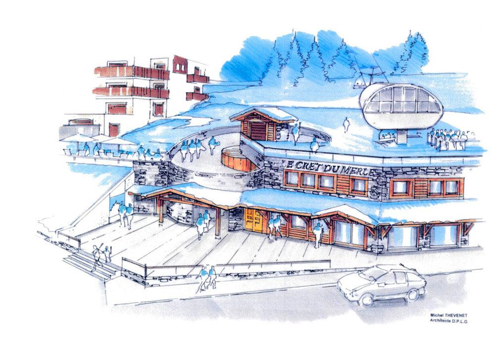 Futur front de neige et télésiège du Crêt du Merle à La Clusaz - © Michel Thevenet